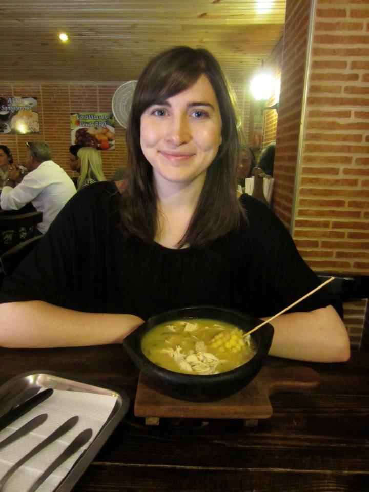 Always eating soup. Bogota, 2013.