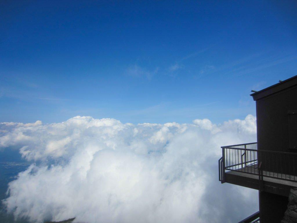 clouds at mount fuji