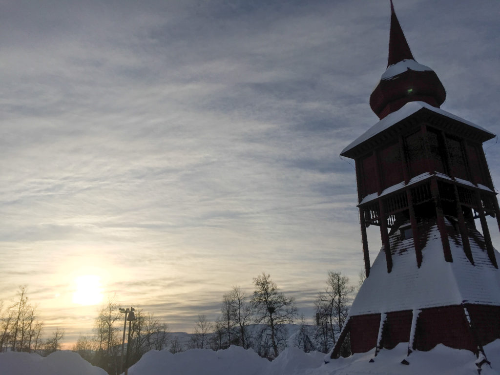kiruna church in sweden