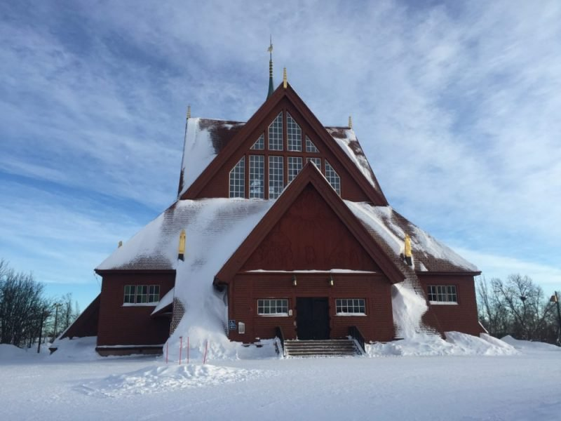 Kiruna Church Sweden - the jumping off place to see Abisko Northern lights