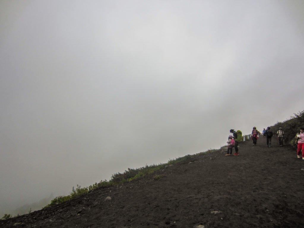 mist on mount fuji