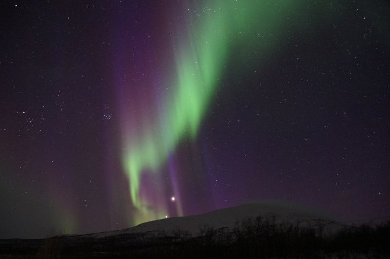 Northern lights in Abisko are stunning