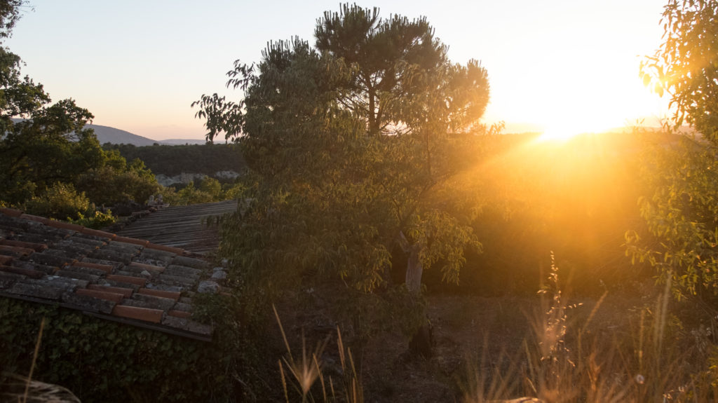 Sunset in Goult Provence