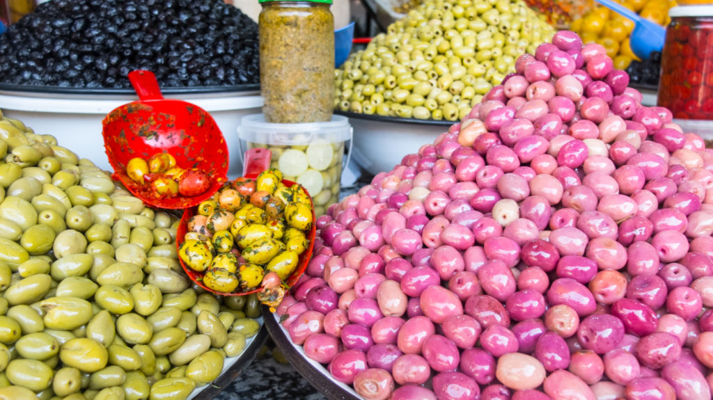Olives in the souks of Marrakech