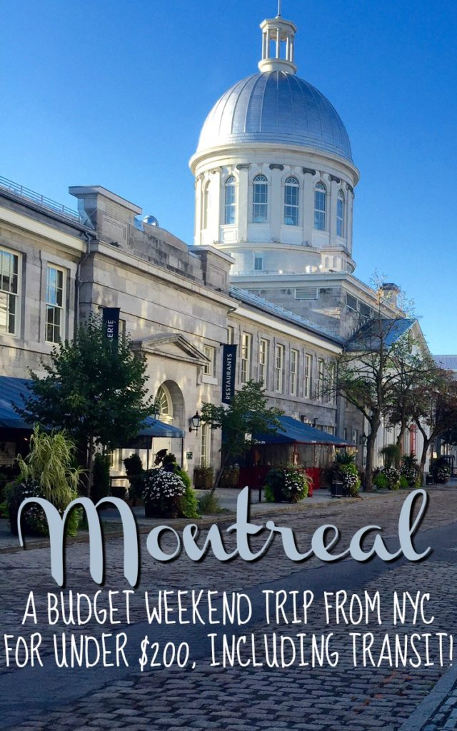 Montreal is a fantastic destination for a weekend trip from New York City. Read on to learn how I did it for under $200 for a three-day weekend... less than it would cost to fly there!