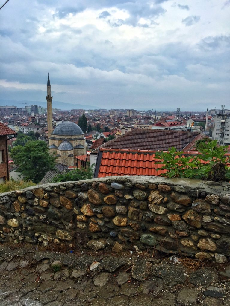 The gorgeous main mosque in Prizren, Kosovo
