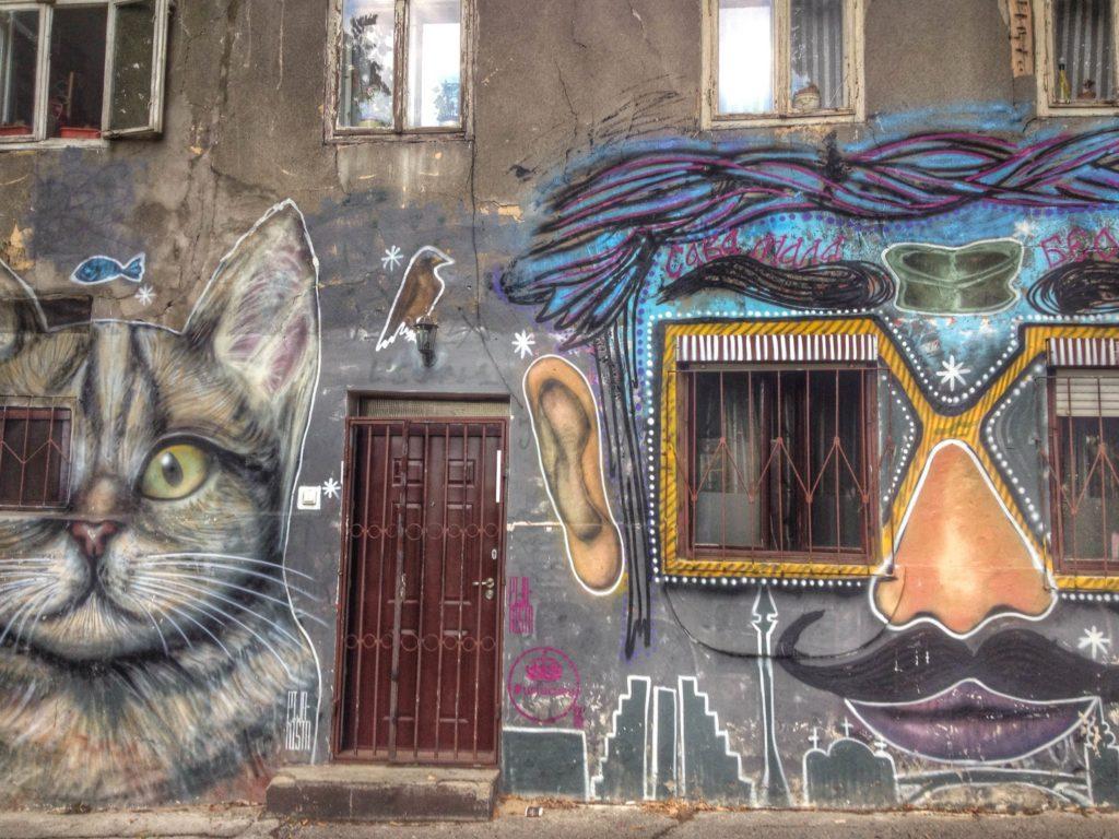 Street art in Belgrade, Serbia