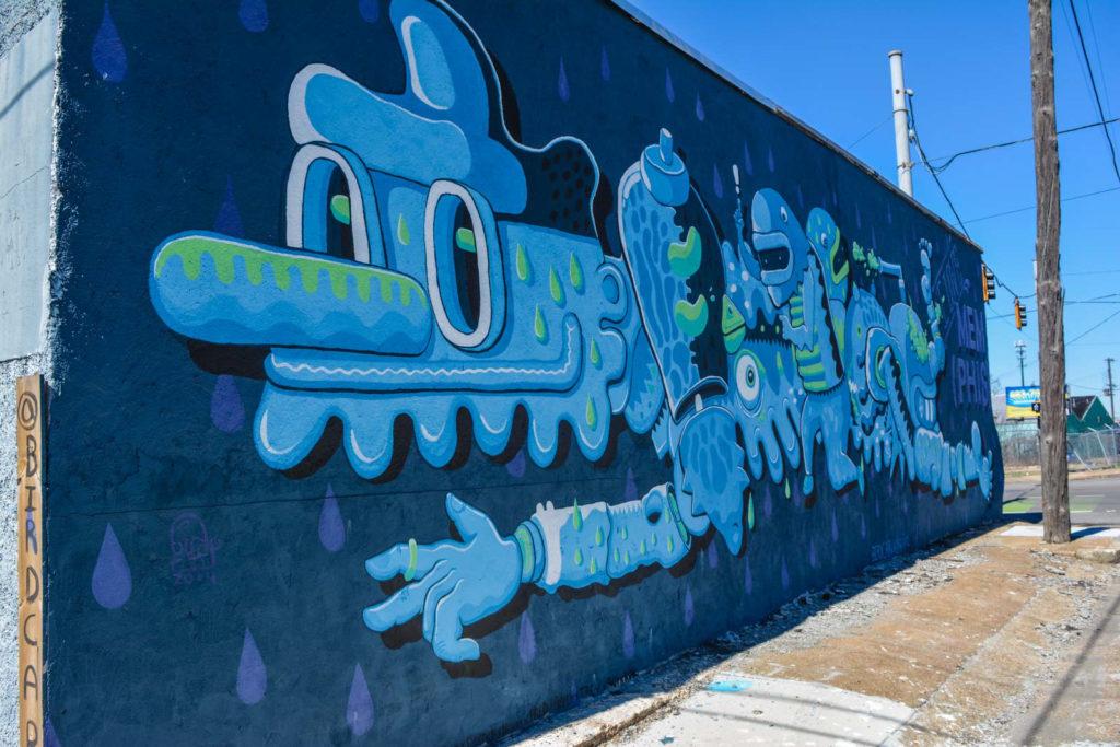 Street art in Memphis, Tennessee, USA