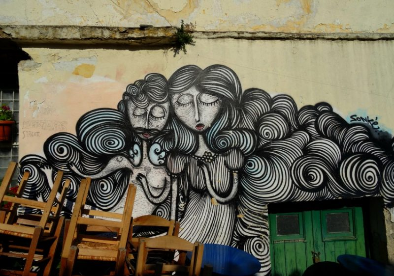 Street art in Athens, Greece