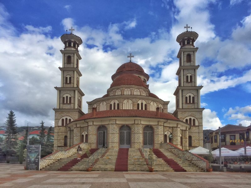 travel to Albania and see the Korca caethedral