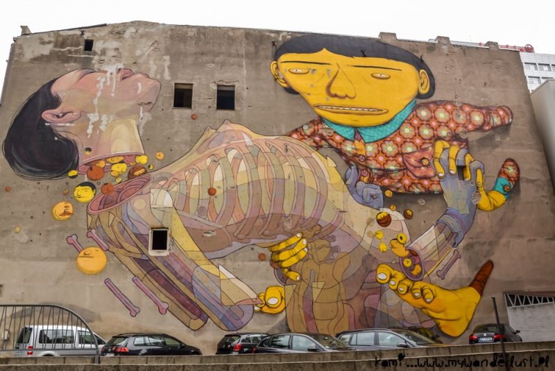 Street art in Łódź, Poland