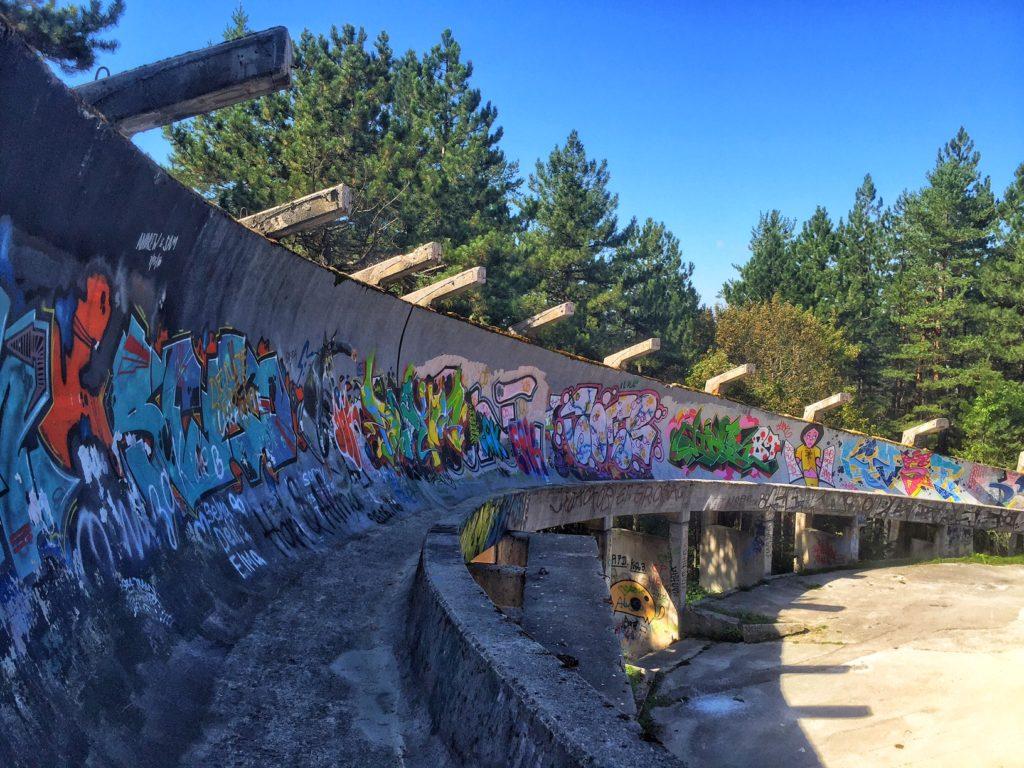 sarajevo olympic bobsled track abandoned
