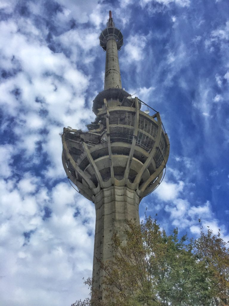 The abandoned TV tower in Fruska Gora outside of Novi Sad