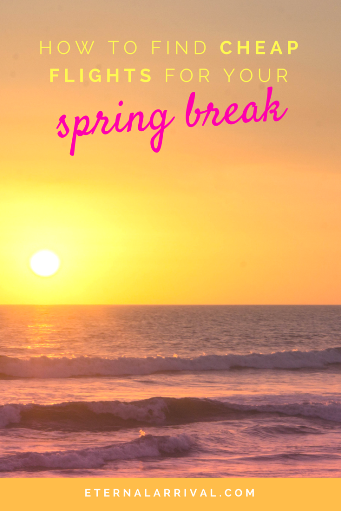 Spring break doesn't have to be expensive! Learn my flight hacks for booking cheap planet tickets.