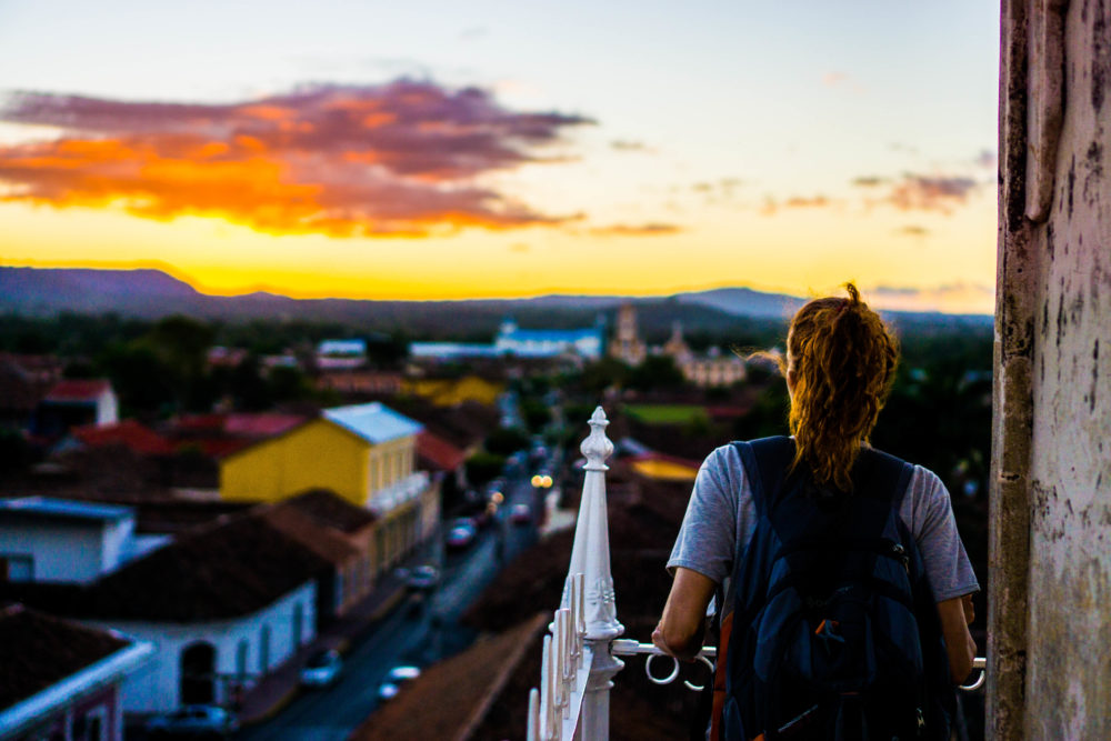 Sunset views - another one of the best things to do in Granada, Nicaragua