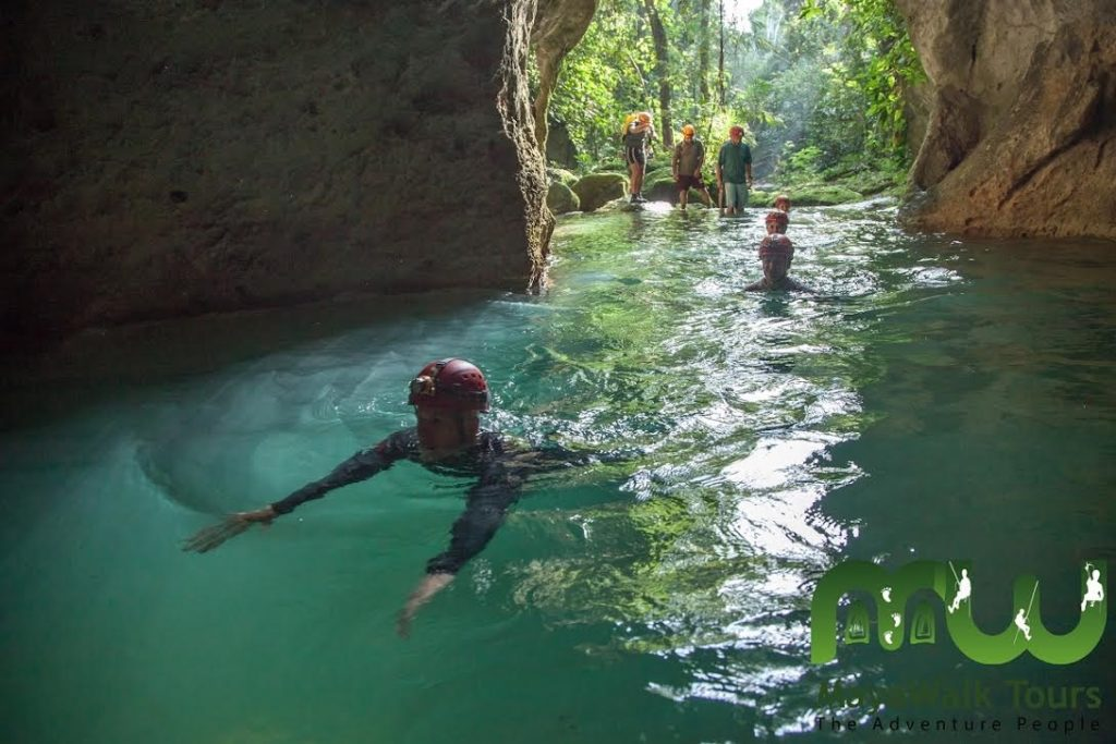 Swim in the ATM cave in Belize
