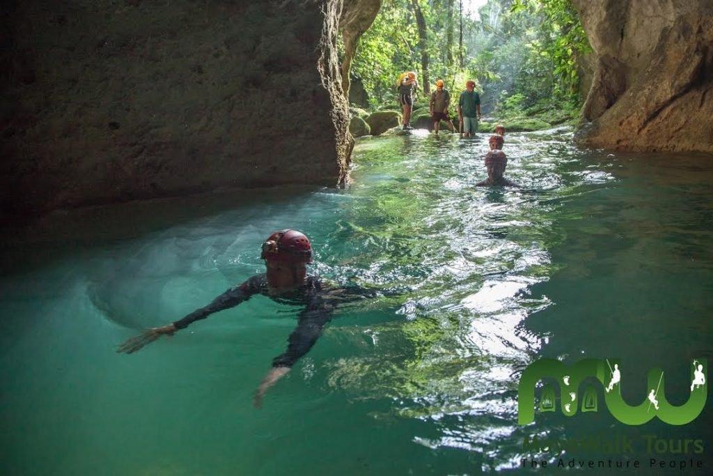 Swim in the ATM cave in Belize
