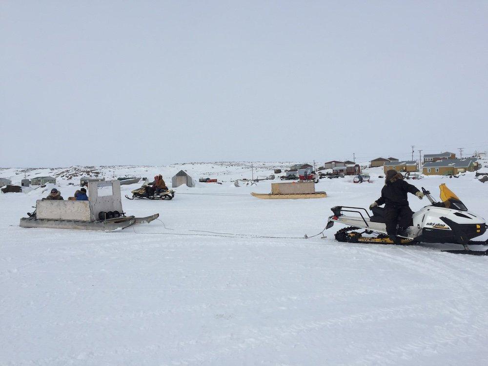 Snowmobiling in Nunavut Arctic Circle