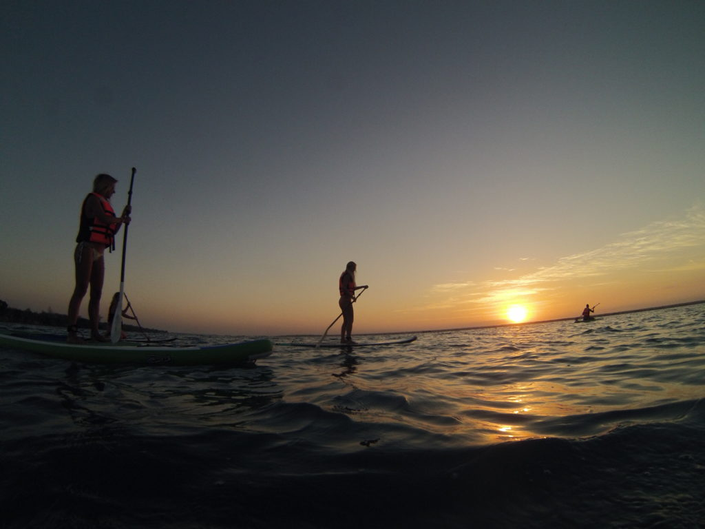 paddleboarding is one of the best things to do in Lake Bacalar