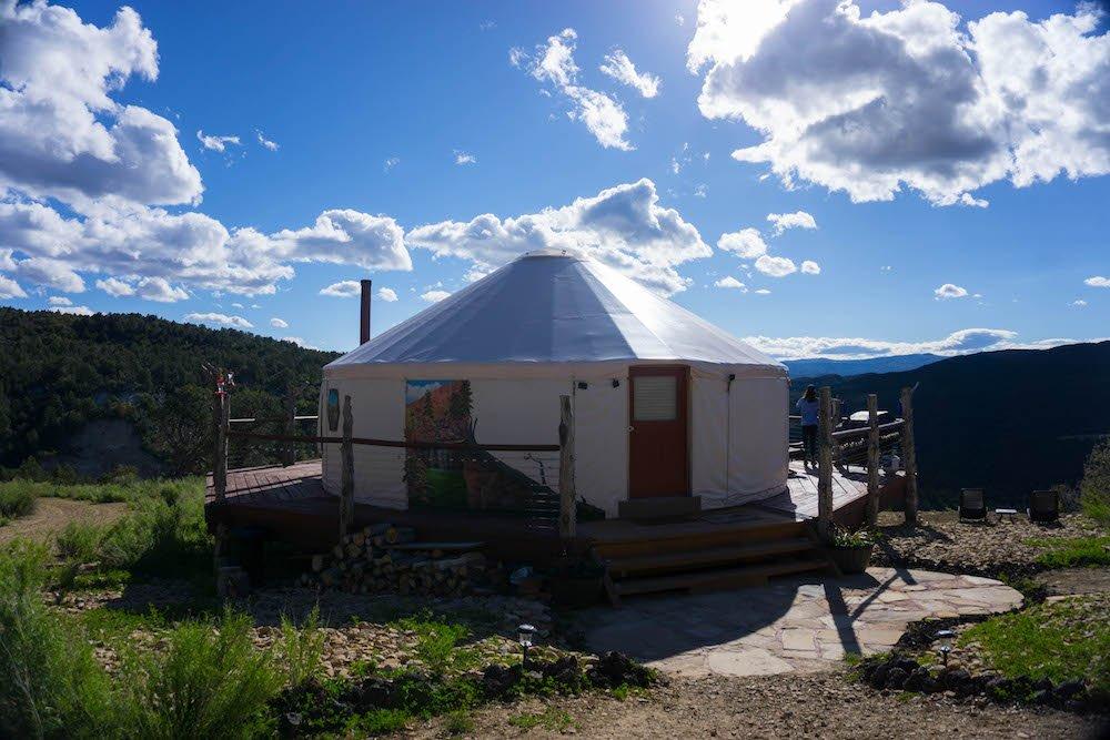 Glamping In A Yurt In Utah Underneath The Milky Way Eternal Arrival Yurt tour utah zoes travel. yurt in utah underneath the milky way