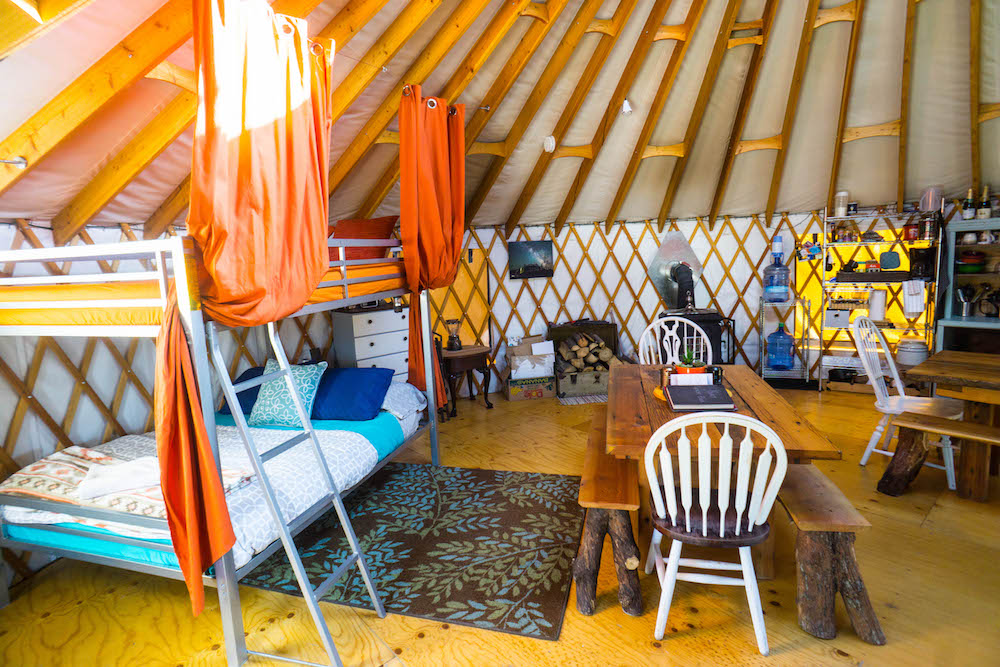Stay in a yurt in Utah