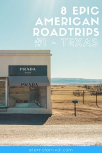 8 bucket list US road trip itineraries you should steal, starting with the state of Texas! Start in Austin, East Texas, then go to San Antonio, check out the small town of Marfa, and end up in the beautiful national parks of Texas! More details on the blog.