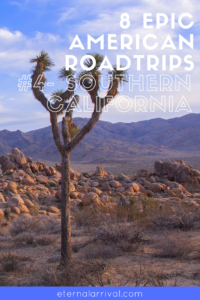 Add Southern California to your road trip bucket list. Joshua Tree National Park, state parks, the Pacific Coast, Los Angeles, Salvation Mountain, Slab City, the Salton Sea, and more.