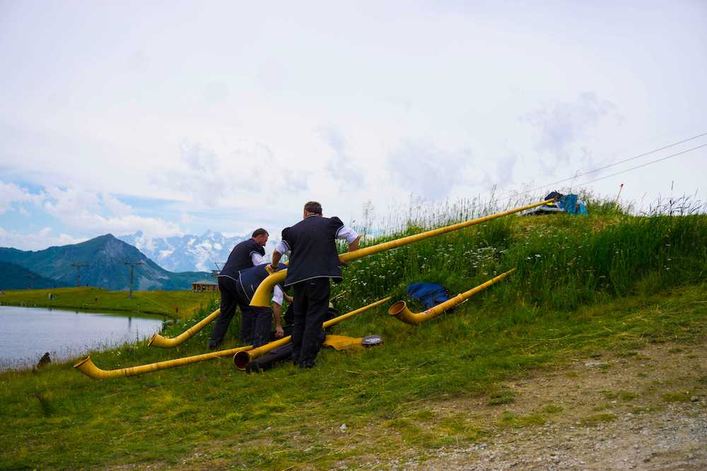 At the Nendaz alphorn festival