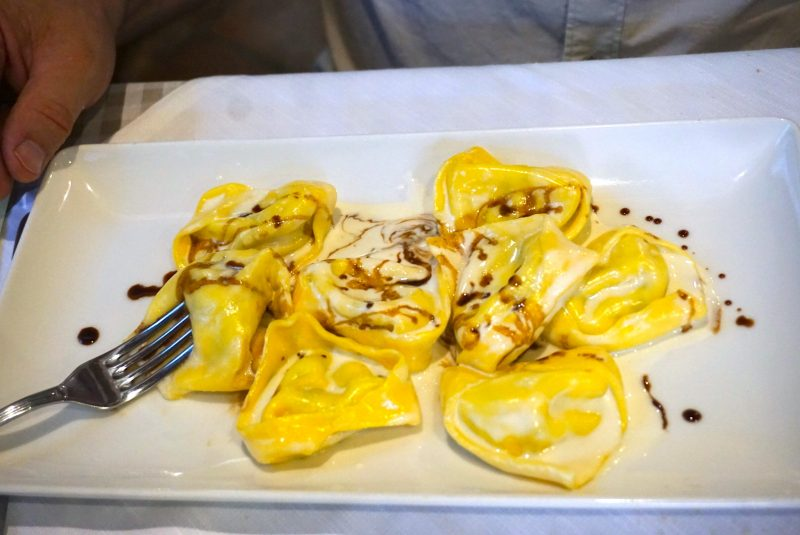 tortelloni with balsamic