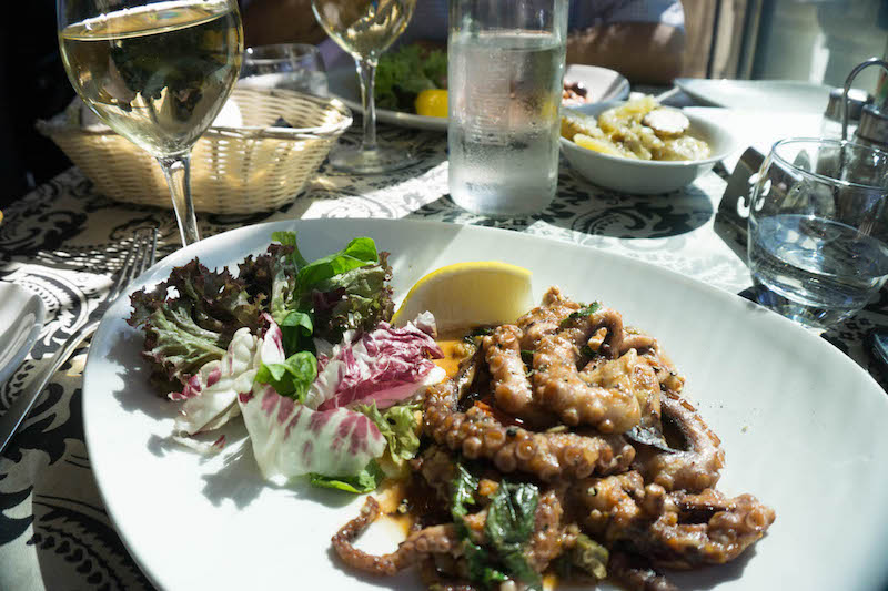 What to do in Malta? Eat a fantastic seafood lunch.