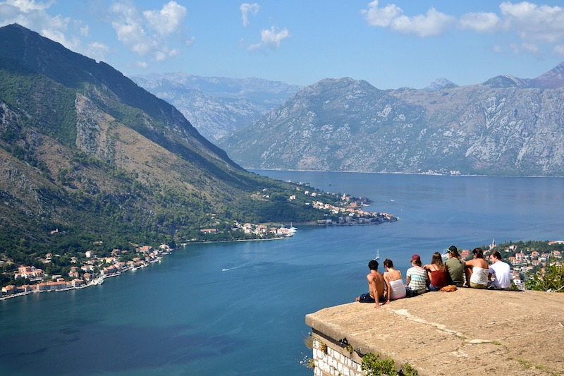 One of the best things to do in Montenegro is climb the walls to the old fortress