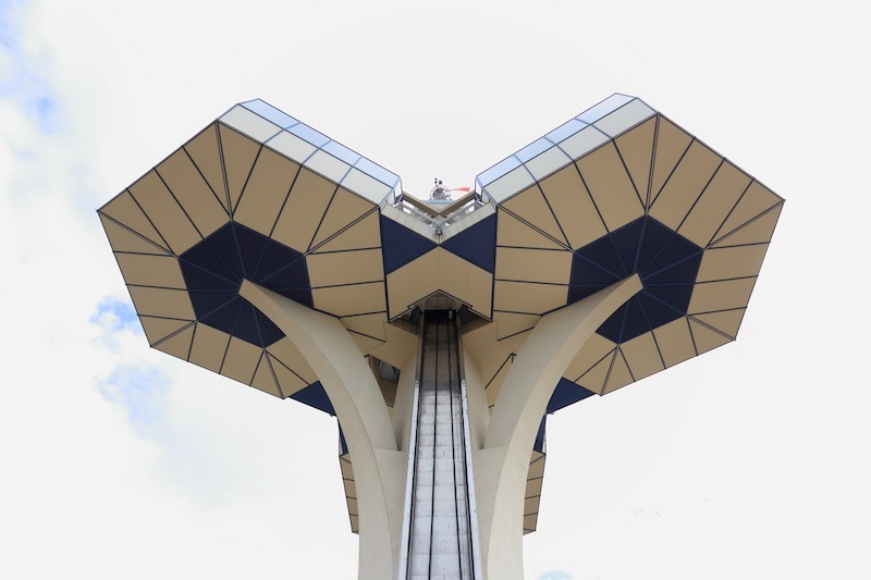 things to see in Montenegro - the weird architecture of Podgorica