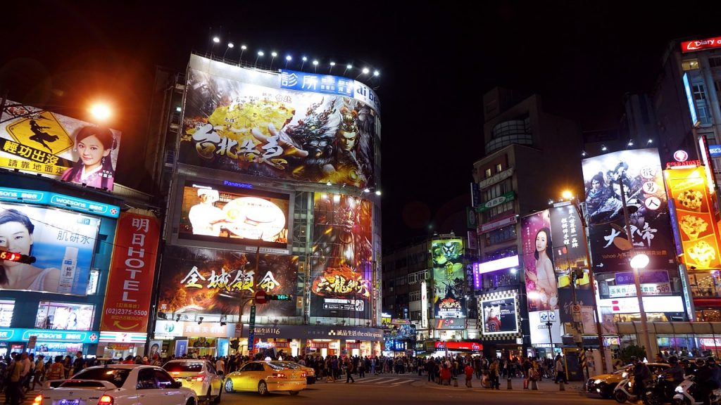 neon lights in ximending - one of the best places in taipei to visit