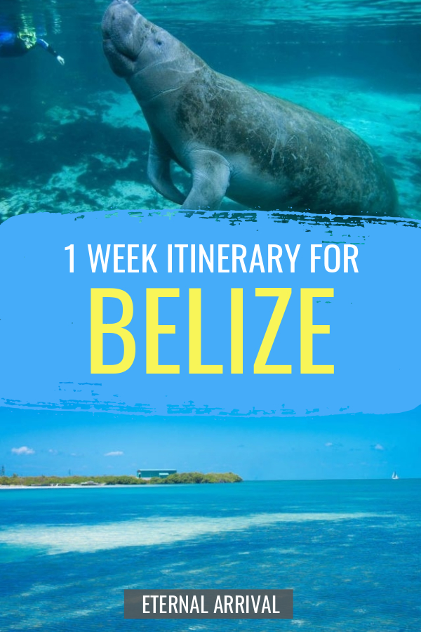 Planning a trip to Belize? This Belize itinerary helps you plan the perfect week in Belize, from the Caribbean islands of San Pedro & Caye Caulker to the Belizean jungle, where you can stay in eco-lodges, see Mayan ruins, and go caving! Your 7 day Belize adventure road map awaits.