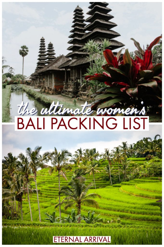Planning a trip to Indonesia and don't know what to pack for Bali? This women's Bali packing list will help you decide what to bring to Bali (and what to leave behind). Don't make any Bali packing mistakes - this guide will help decide what to wear in Bali and what you can't forget!