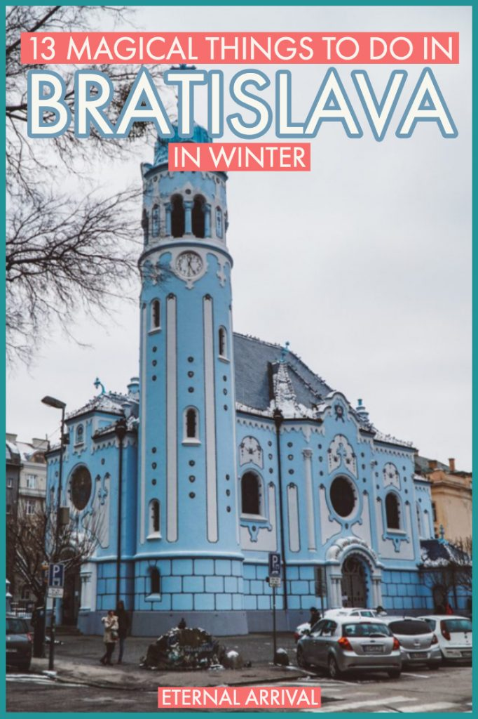 Planning to travel Bratislava in winter? There are plenty of great things to do in Bratislava at any time of year, but Bratislava around Christmas is the most magical! From the markets to the snow-covered Castle to the cute cafes and restaurants and bookstores, here's your ultimate guide to a winter visit to Bratislava!