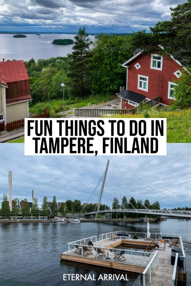 Don't know what to do in Tampere, Finland? I visited Tampere in summer (but Tampere in winter would be amazing too!) and compiled this Tampere travel guide with all the best things to do do in Tampere. From unique architecture to saunas to funky museums like the Moomin Museum and Lenin Museum, and former factories turned cool breweries and funky bars, there's so much to do in Tampere!