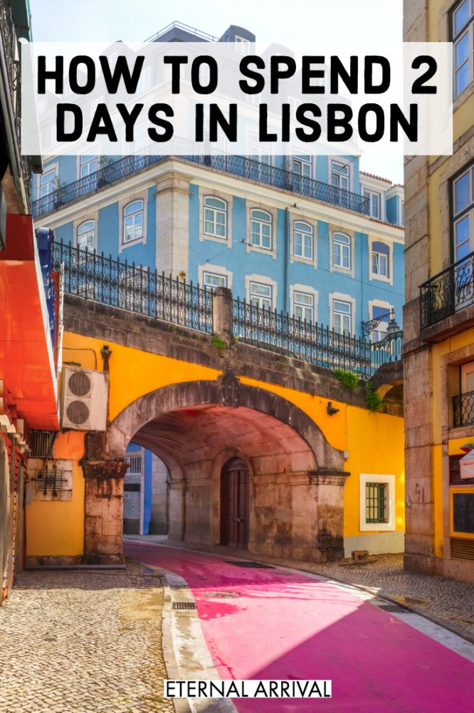 Wondering what to do in Lisbon, Portugal? This Lisbon itinerary covers the best things to do in Lisbon in 2 days (or more if you have it!) Here's your Lisbon bucket list for a perfect weekend in Lisbon. From Alfama to Instagram spots to restaurants to architecture and tiles to Belem and other fun neighborhoods and street art galore, here's all the best places to visit in Lisbon!