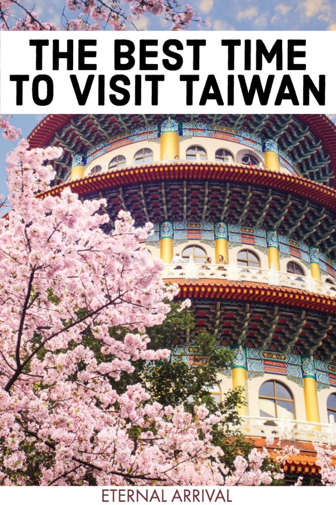 Want to travel Taiwan - but you don't know the best time to visit Taiwan? This guide to seasons, weather, and festivals in Taiwan will help you! Whether you want to visit Taiwan in winter for the Lantern festival and hot springs, Taiwan in spring for its cherry blossoms and photography opportunities, Taiwan in summer for its beaches and national parks, or Taiwan in fall for its nature, hiking, and pretty foliage, there's so many wonderful things to do in Taiwan in all seasons!