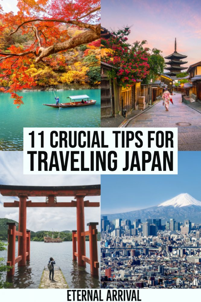Plan to travel Japan? These 11 tips for traveling to Japan are essential reading. Covering aspects like public transportation, train travel in Japan, Japanese food, Japan on a budget, accommodations in Japan, best time to visit Japan, Japan nature & temples, and places to visit in Japan, this is your ultimate guide to your first time in Japan!