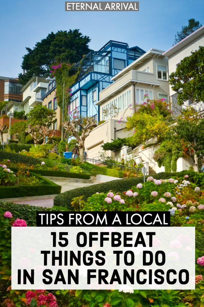Wondering what to do in San Francisco off the beaten path? This list of alternative and unusual things to do in San Francisco is the perfect way to plan an offbeat SF city break. From unique photography & IG spots to authentic restaurants to funky neighborhoods to other unique SF must-see's, this unusual San Francisco travel guide will get you away from Union Square and Pier 39 and where the SF locals love!
