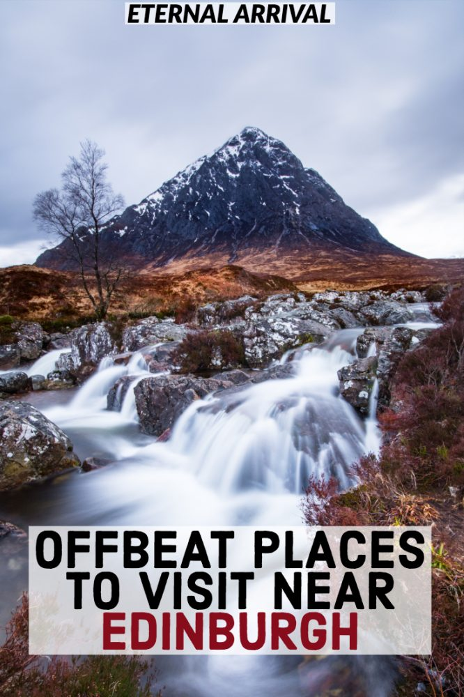 Planning a trip to Scotland? This off the beaten path Scotland travel guide covers places to visit near Edinburgh, easily visited on a Scotland road trip. It's jam-packed with great Edinburgh day trips - from street art in Glasgow to Glencoe landscapes to Outlander filming locations to tasty whiskey distillery tours.