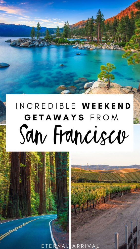 Want to plan a weekend getaway from San Francisco? These overnight trips from San Francisco are perfect for a 2 or 3 day trip. From Lake Tahoe to Yosemite to San Luis Obispo and beyond, these are all the best weekend trips from the SF Bay Area!