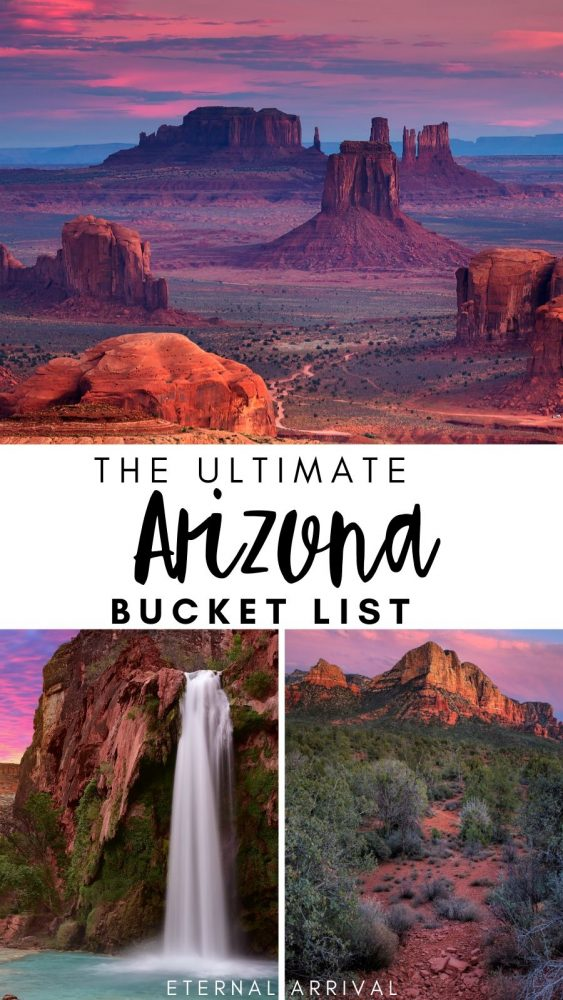 Wondering the best places to visit in Arizona? This Arizona bucket list is full of great things to do in Arizona to add to your Arizona itinerary or Arizona road trip. Use this as your ultimate Arizona travel inspiration!